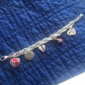 """Brighton """"Heart of Hope"""" Charm Bracelet"""